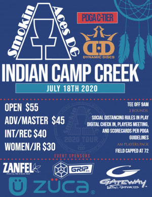 Smokin Aces at Indian Camp Creek graphic