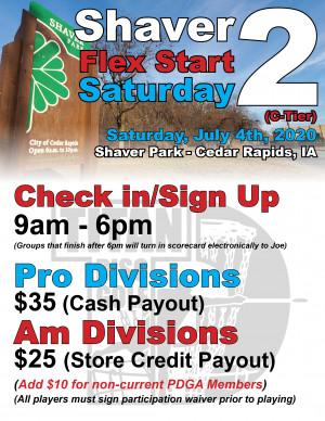 Shaver Flex Start Saturday 2 graphic