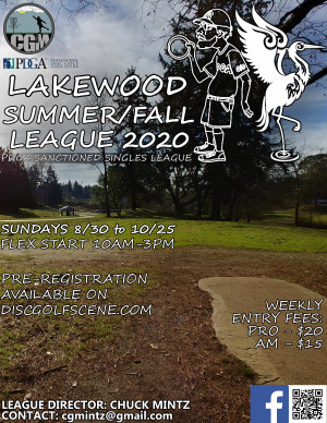 Lakewood Summer/Fall League 2020 - WEEK 1 graphic