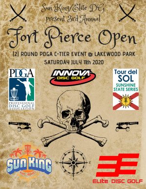 Sun King/Elite Disc Golf present 3rd Annual Ft. Pierce Open graphic