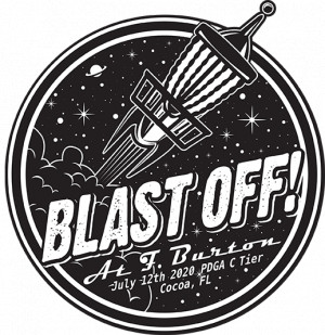 Sun King/Discalibur present Blast Off at F. Burton graphic