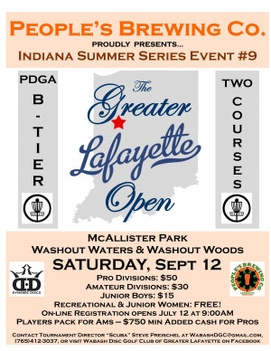 People's Brewing Co. presents: ISS #9 The 2020 Greater Lafayette Open graphic