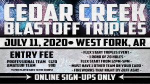 Dynamic Discs NWA Presents: Cedar Creek Blastoff Triples graphic