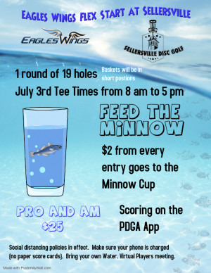 Feed the Minnow Presented by Eagles Wings Disc Golf graphic