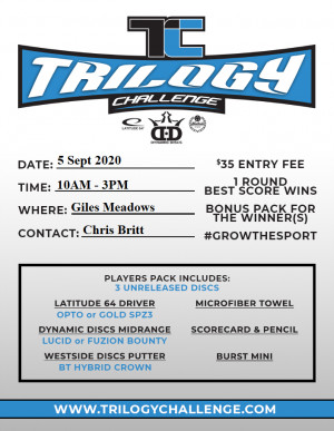 Trilogy Challenge 2020 at Giles graphic
