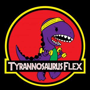 Tyrannosaurus Flex graphic