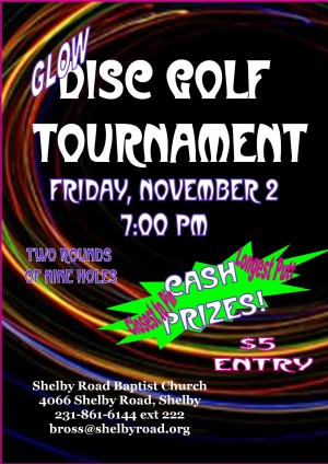Glow Disc Golf Tournament graphic