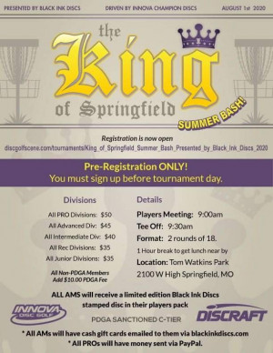 King of Springfield, Summer Bash! Presented by Black Ink Discs graphic