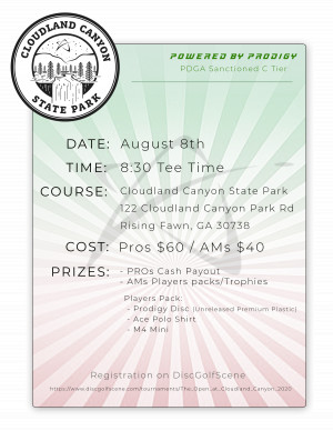 The Open at Cloudland Canyon Powered by Prodigy graphic
