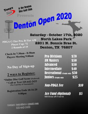 Denton Open 2020 graphic