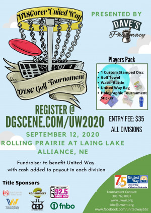 DISCover United Way Disc Golf Tournament graphic