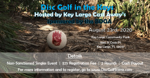 Disc Golf in the Keys Hosted by Key Largo Cast Away's, Sponsored by the BDGA graphic