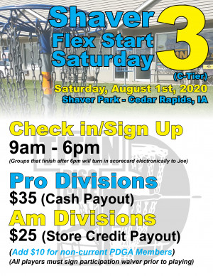 Shaver Flex Start Saturday 3 graphic