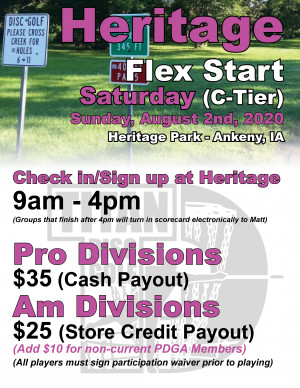 Heritage Flex Start Sunday graphic