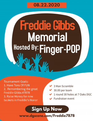 "The Freddie Gibbs Memorial Hosted by ""finger POP!"" graphic"