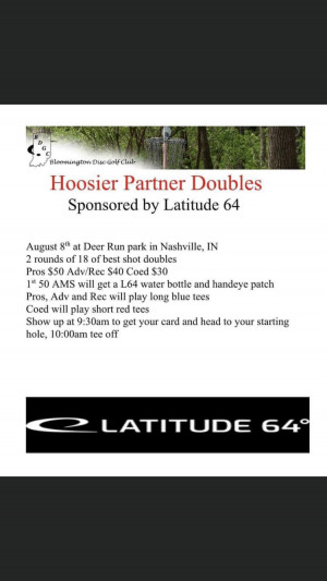 Hoosier Partner Doubles sponsored by Latitude 64 graphic