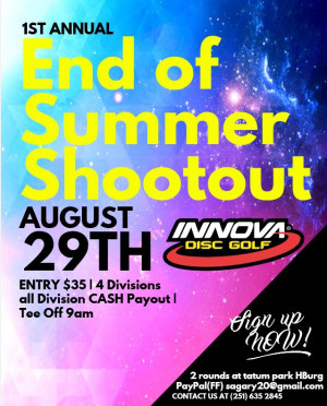 "1st Annual End of Summer Shootout ""DRIVEN by INNOVA"" graphic"