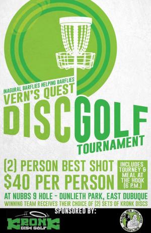 Vern's Quest Disc Golf Tournament Best shot doubles graphic