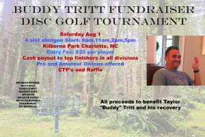 Buddy Tritt Fundraiser Disc Golf Tournament graphic