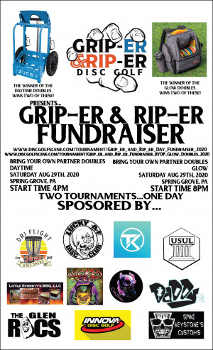 Grip-er and Rip-er Fundraiser BYOP Doubles Daytime graphic