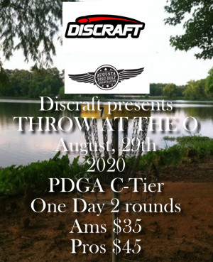 Throw at the O sponsored by Discraft graphic