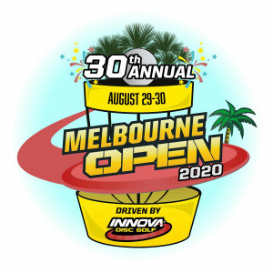 30th Annual Melbourne Open Course preview Innova Option Fundraiser graphic