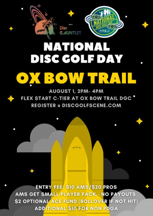 National Disc Golf Day - Ox Bow Trail graphic