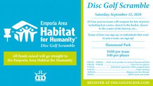 2020 Emporia Area Habitat for Humanity Disc Golf Scramble (September 12) graphic