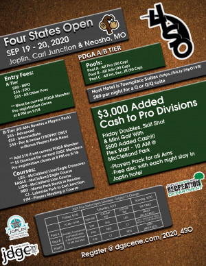 15th Annual Four States Open graphic