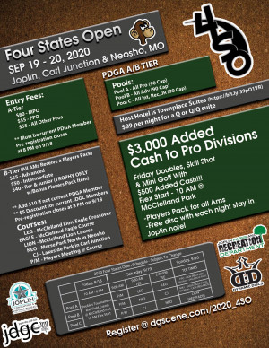 15th Annual Four States Open Sponsored by Dynamic Discs graphic