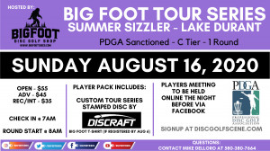 Big Foot Tour Series Summer Sizzler at Lake Durant graphic