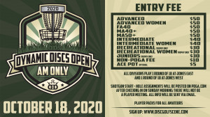 2020 Dynamic Discs Open - AMATEUR ONLY (GDG $5K/$10K event) graphic