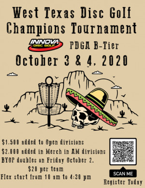West Texas Disc Golf Champions Tournament graphic