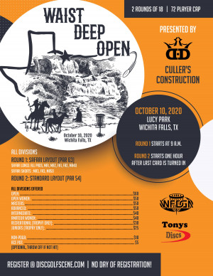 Waist Deep Open presented by Cullers Construction and Dynamic Discs graphic
