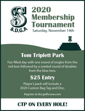 SDGA 2020 Membership Tournament graphic