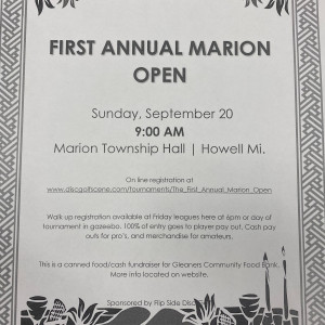 The First Annual Marion Open graphic
