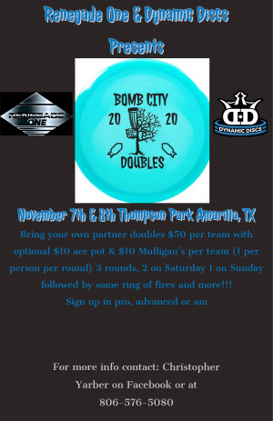 Renegade One & Dynamic Discs Presents Bomb City Doubles graphic