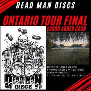 Dead Man Discs 2020 Tour Final graphic