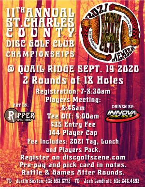 11th Annual St. Charles County Disc Golf Club Championships graphic