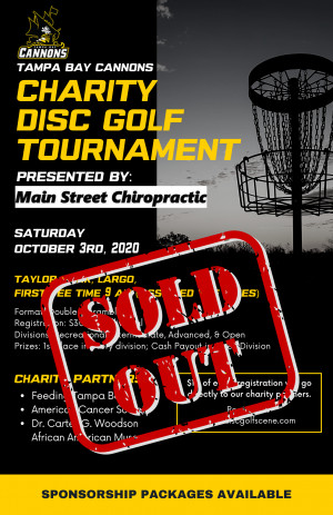 Cannons Charity Disc Golf Tournament graphic
