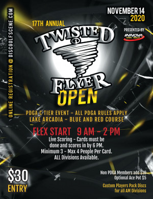 17th Annual Twisted Flyer Open graphic