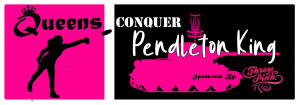 Queens conquer Pendleton King- A Throw Pink event graphic