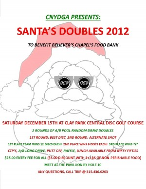 Santa's Doubles at Clay graphic