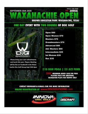 2020 Waxahachie Open graphic