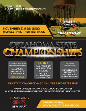 Oklahoma State Championships Driven By Innova graphic