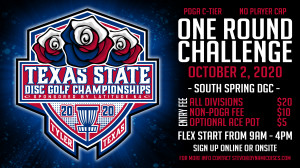 Texas States One Round Challenge @ South Spring graphic