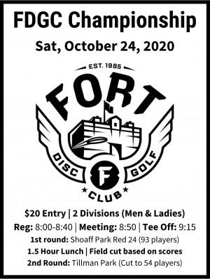 Fort Disc Golf Club Championship graphic