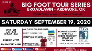 Big Foot Tour Series Broadlawn Park - Ardmore OK graphic
