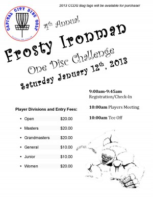 4th Annual Frosty Ironman graphic