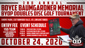 3rd Annual Boyce Baumgardner Memorial Doubles Disc Golf Tournament graphic